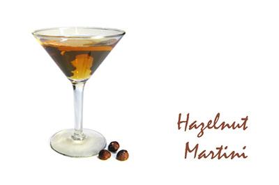 Hazelnut Martini Cocktail MxMo Roundup // stirandstrain.com