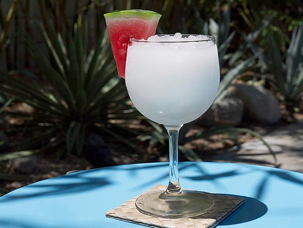 Frozen Watermelon White Negroni Cocktail Slushies // stirandstrain.com
