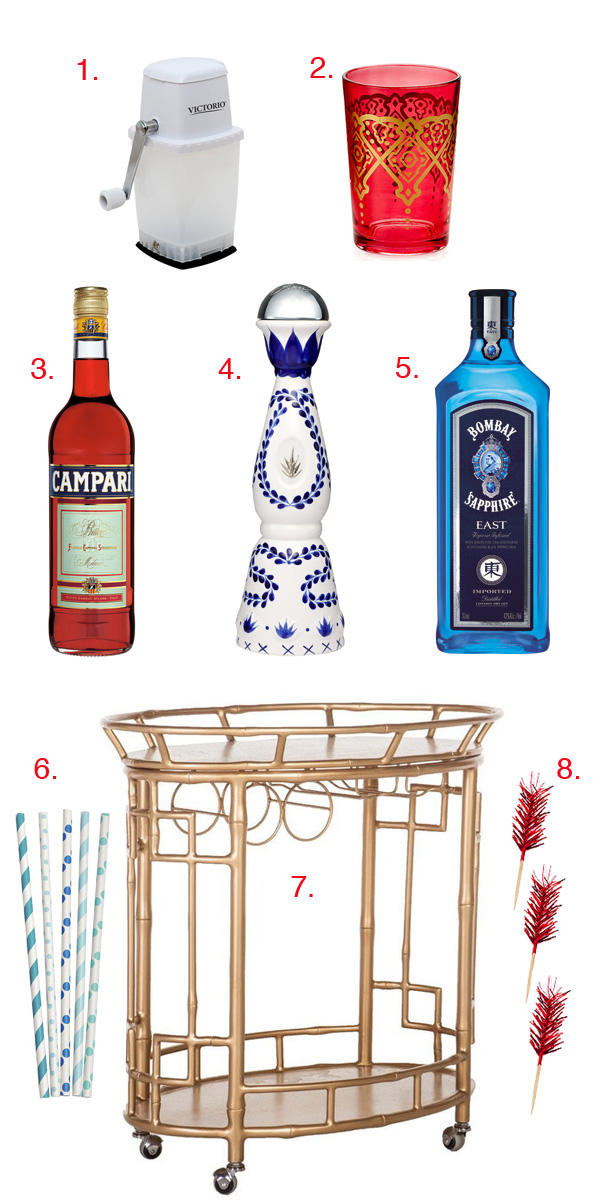Patriotic Bar Cart Gift Guide // stirandstrain.com