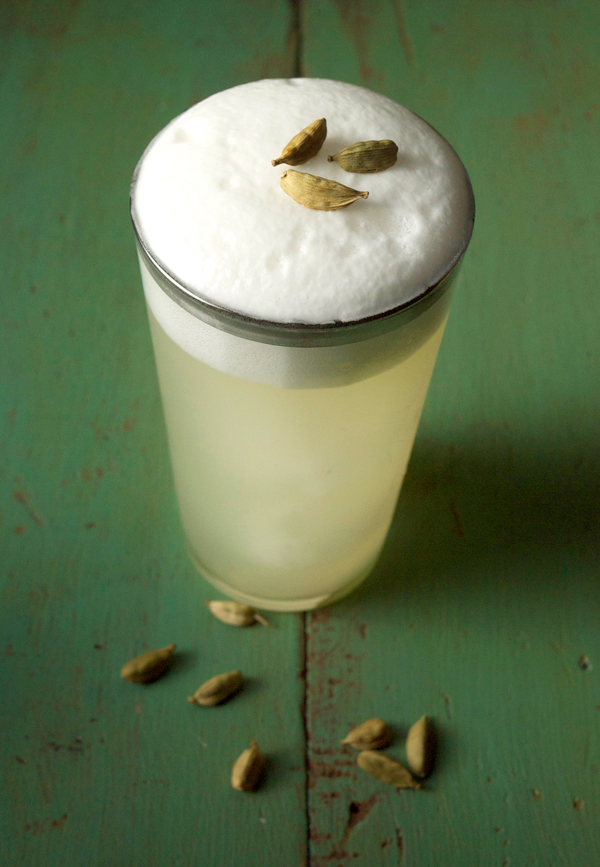 An Isle Away #Cocktail with cardamom coconut foam // stirandstrain.com