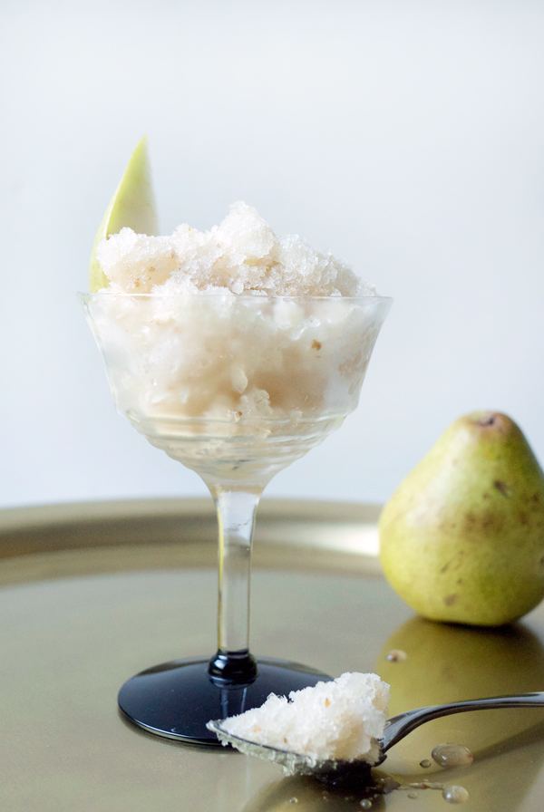 Honeyed Pear and St. Germain Granita // stirandstrain.com