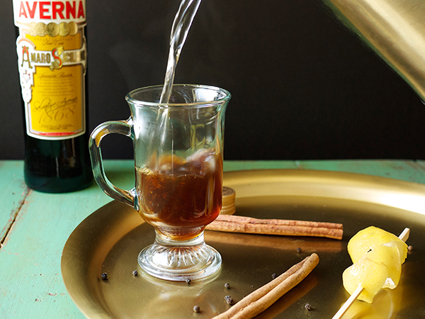 Spiced Averna Hot Toddy Cocktail // stirandstrain.com