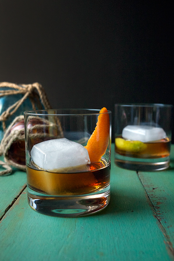 Smoky Citrus Rum Old Fashioned Cocktail // stirandstrain.com
