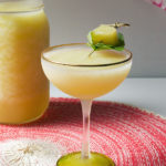 Peach and Tequila Frozen Cocktail