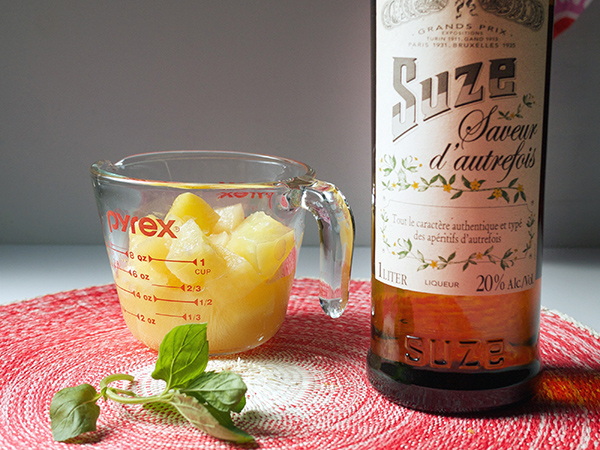 Peach and Tequila Frozen Blended Cocktail // stirandstrain.com
