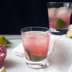 Sparkling Pomegranate Caipirinha