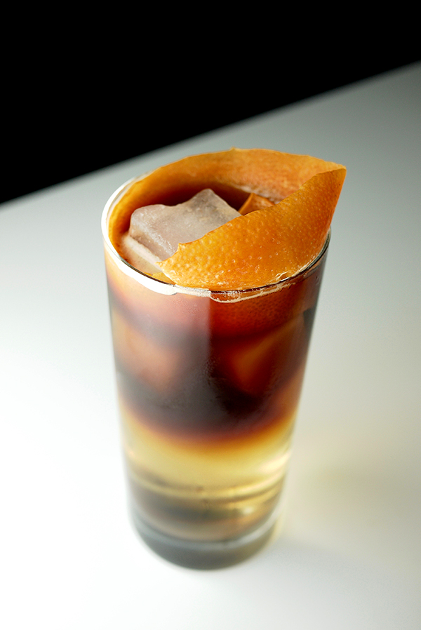 Sparkling Coffee Cocktail with Montenegro Amaro // stirandstrain.com