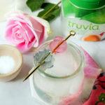 Sparkling Gin Lemonades with Rose and Violet Gelées