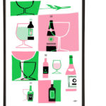 Jet Set Prints for the Midcentury Home Bar