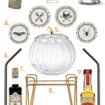 The Fall & Halloween Bar Cart 2018