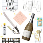 New Year's Eve Bar Cart Styling: The Champagne Cocktail
